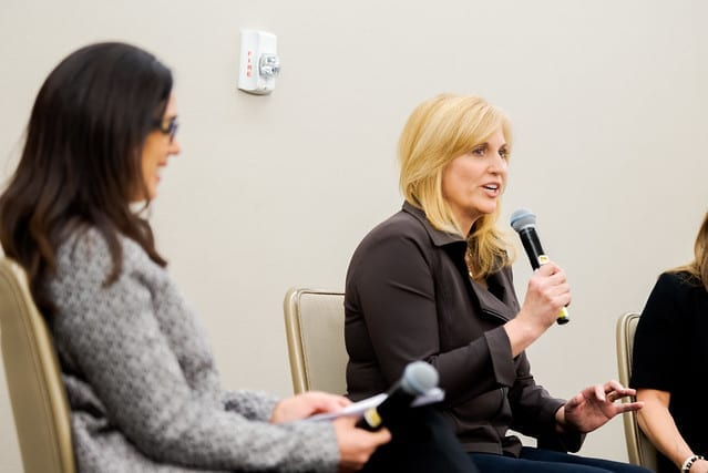 Caroline Leach of The Carrelle Company Presenting at the Women's Conference