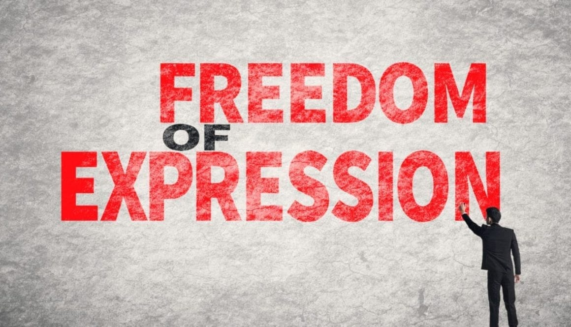 text on wall, Freedom of Expression
