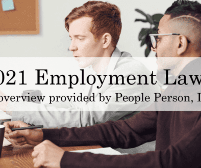 2021 Employment Laws People Person Inc.