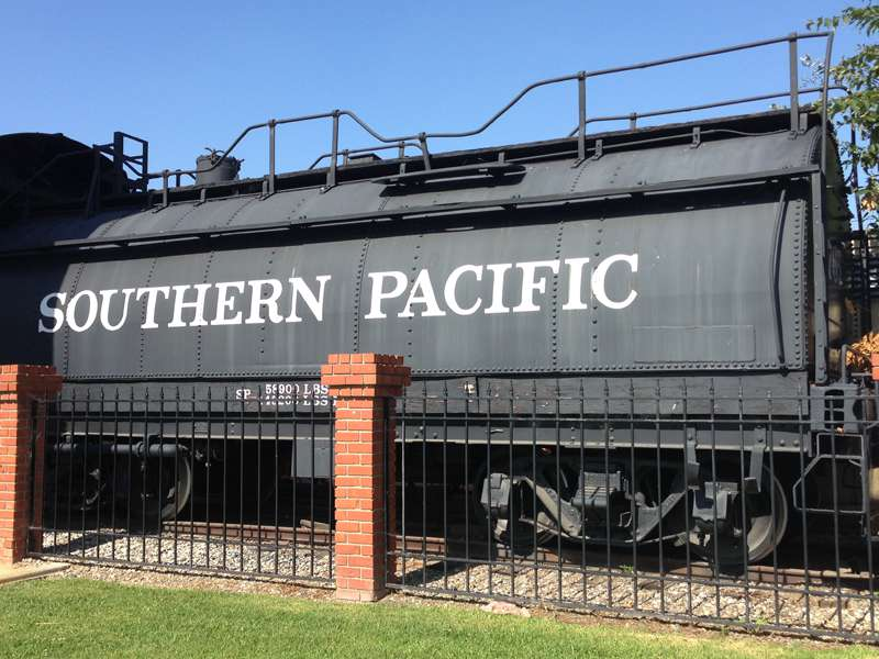 southern pacific tender at the Lomita Railroad Museum
